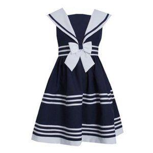 Bonnie Jean Nautical Girls Sailor Dress Navy 10